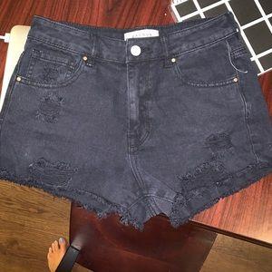 PacSun Shorts - NWOT Pacsun denim ripped black shorts